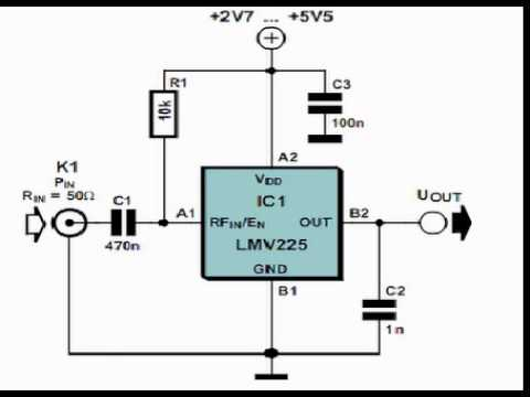 Linear RF Power Meter Circuit