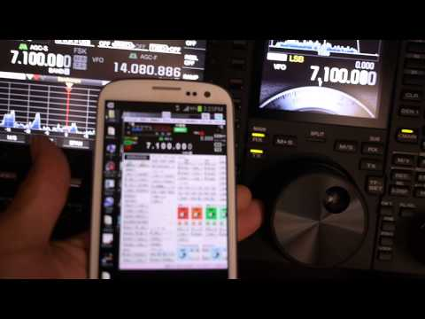 To control the KENWOOD TS-990 on a smartphone