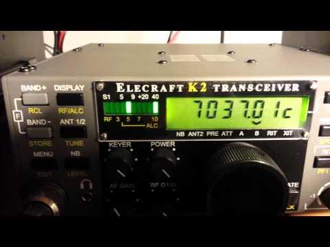 K6XX CW indicator in my Elecraft K2 #7022