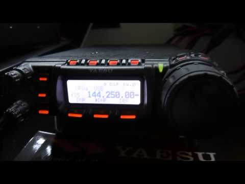 Yaesu FT-857d, Talking On 2m Sideband.