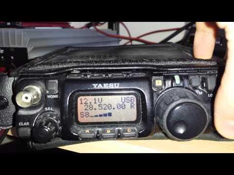 Yaesu ft-817 qrp on indoor antenna LZ1YG de 2E0IJK