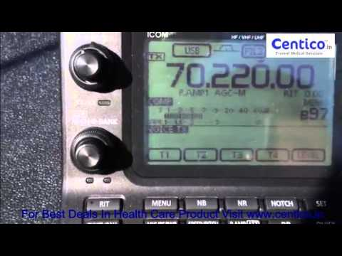 M0TAZ testing 6 element 4m beam on 70MHz with Icom IC 7100