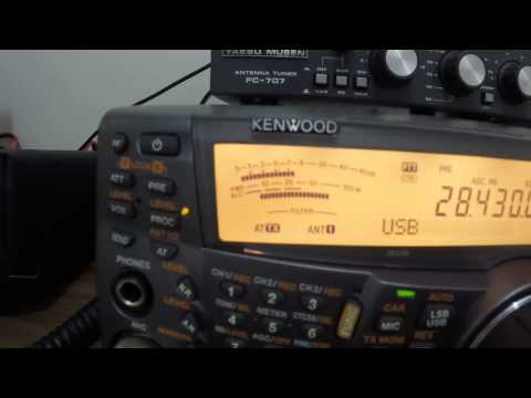 TS-2000 and QSO between PU2VGA and F5OUX