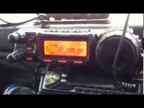 Yaesu ft 857 on eleven metres 27 mhz 163 division OP121  Tony Working 43 Division WR 219 John