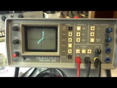 Huntron Tracker traces of Yaesu FT-1000MP LPF board diodes.