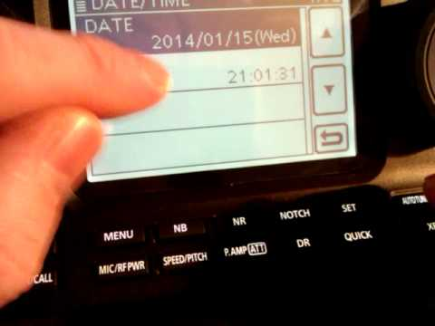 Using your Icom IC-7100 on Dstar (Part3) Setting the Time & Date
