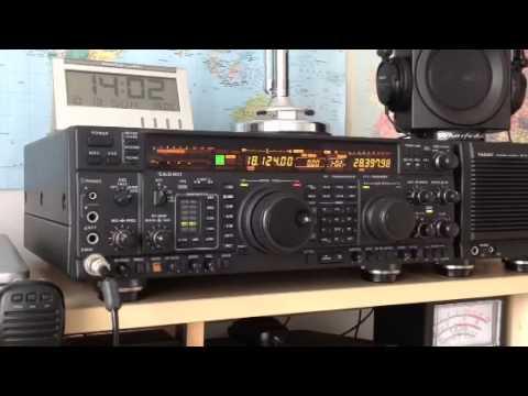G1JPV & IZ0RVI 17m QSO Yaesu FT-1000MP Amateur Radio