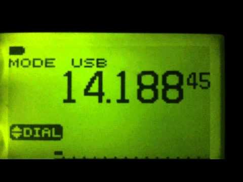Icom Ic-7000 audio v icom R-20 on 20 metres