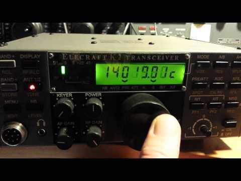 K6XX CW indicator in my Elecraft K2 #7022 led key