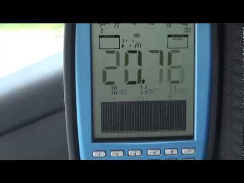 Icom IC-7100 su autovettura - Misura campo elettromagnetico in gamma 7 Mhz