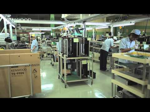 Assembly line of KENWOOD TS 990