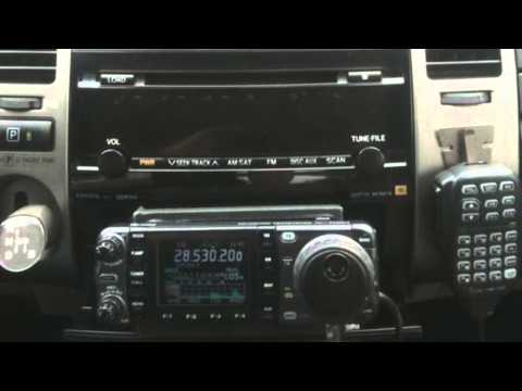 Michael DeMita KA2DUT  on Ham Nation Episode 64 ICOM IC-7000 in Prius with Tarheel