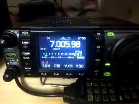 3D2GC/P Rotuma on 40MT CW - received with ICOM IC-7000!