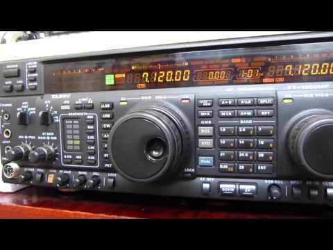 Réception de radioamateurs Français avec un YAESU FT1000 MP