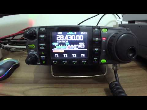 IC-7000 in a QSO between PU2VGA and F5OUX
