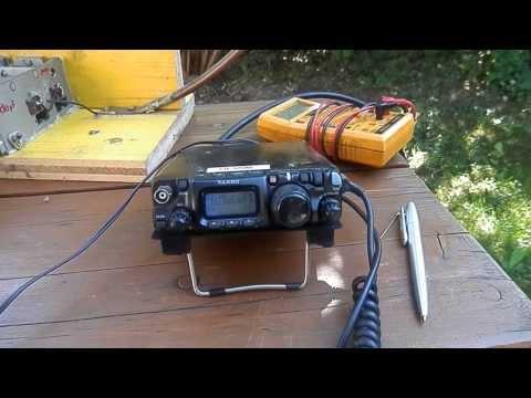 QRP mit FT 817 und magnetic loop