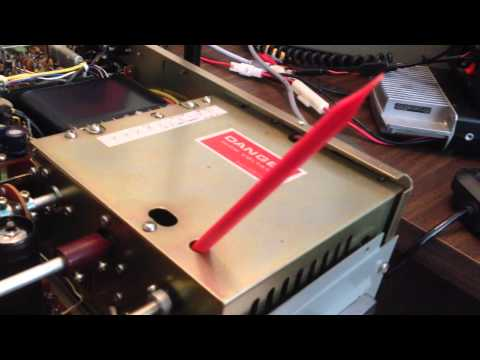 How to neutralize the final tubes on a Kenwood Hybrid Ham Radio