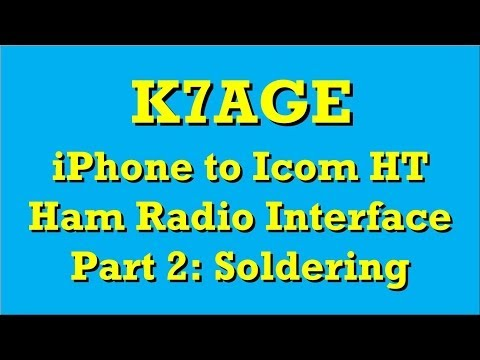 Ham Radio iPhone to Icom HT Interface Part 2: Soldering