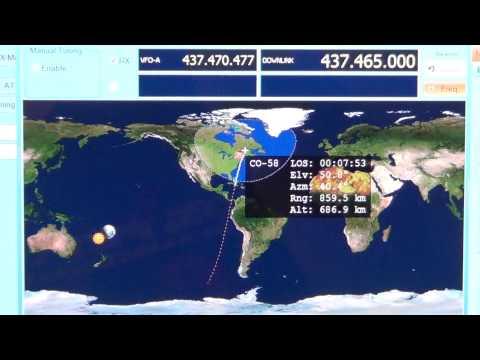 CO 58 amateur radio satellite CW Beacon Icom IC R 8500