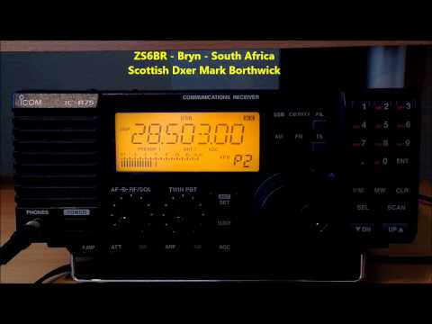 Ham Radio Dxing A92HK A61K etc Received In Scotland on Icom IC-R75 and Super KAZ Array Antenna