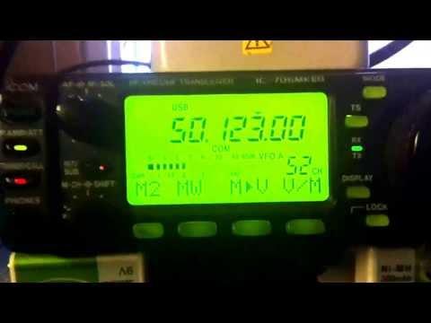 N3LL CA3SOC SIX METER HAMRADIO 50 MHZ CE3RR ICOM IC-706MKIIG