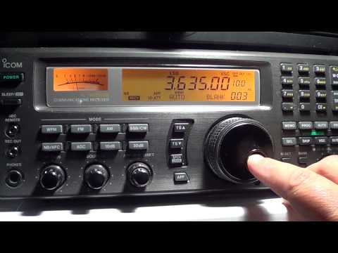 80 meters amateur radio band scan on Icom IC R 8500
