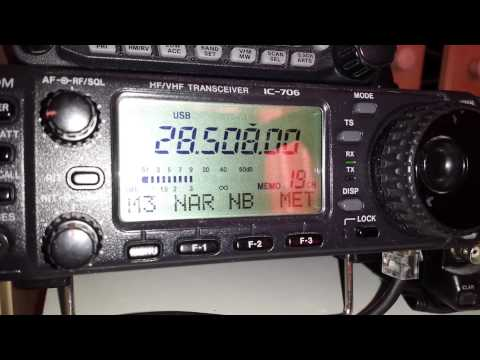TA3GO de 2E0IJK 10 meter amateur radio on icom 706