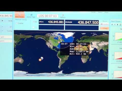 CO 57 Amateur radio satellite CW Beacon Icom IC R 8500
