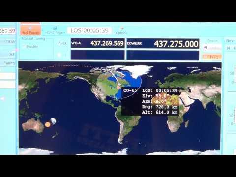 CO 65 Amateur radio satellite CW Beacon on Icom IC R 8500