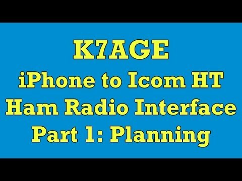 Ham Radio iPhone to Icom HT Interface Part 1: Planning