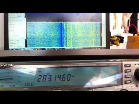 RTL SDR IF 75 Mhz in Kenwood TS-2000 RTL-SDR RTL-2832U Ham Radio HamRadio Ham-Radio
