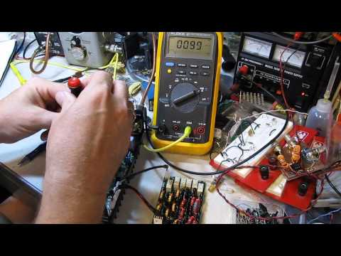 Adjusting the MOSFET drain current in the HF Packer V4 Amplifier (ham radio)