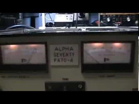 Alpha PA70 (pre 77D) 8877 3cx1500 steel ceramic tube Ham Amateur linear amplifier