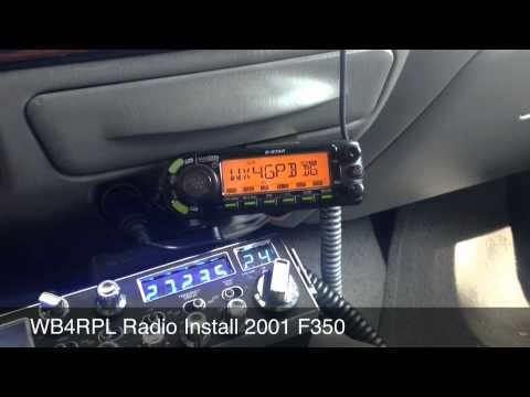 Ham And CB Radio Installation Ford F350. Dstar And Echolink Enabled.