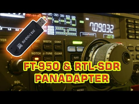 Yaesu FT-950 and RTL-SDR Panadapter