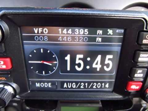 Yaesu FTM400DR Display and APRS