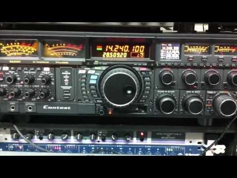 YAESU FTDX-9000 JE1RXJ on 20m 5x9 VE3NGW HAM RADIO