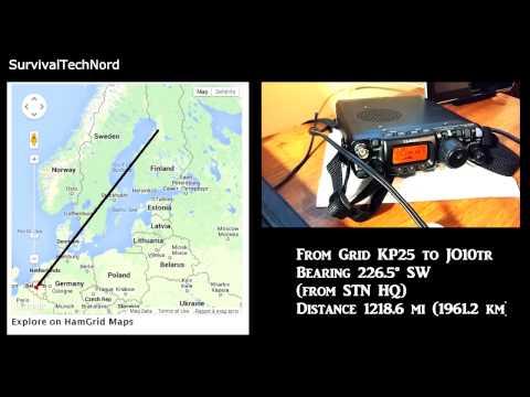 5 watt Range Test | Finland - Belgium 1961Km | Yaesu FT-817ND