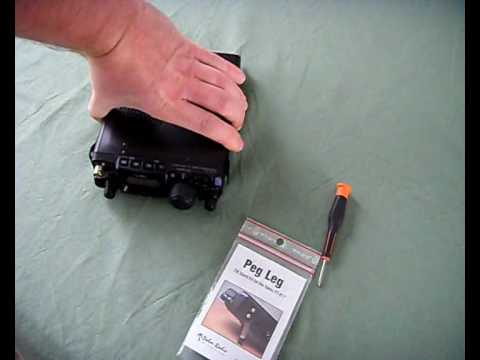 PalmRadio PegLeg tilt stand Installation/Review on my Yaesu FT-817ND 2E0RKY