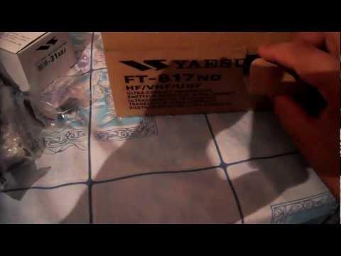 Yaesu FT-817ND unboxing