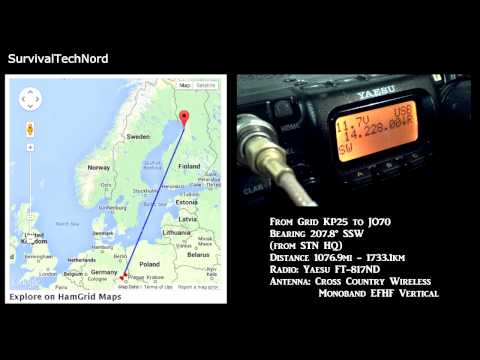 5 watt Range Test | Finland - Czech 1733km | Yaesu FT-817ND