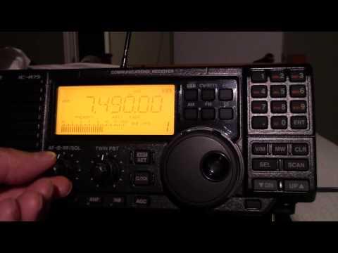 The Icom IC R75 Shortwave Receiver
