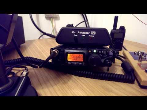 M0SAZ listening to 9K2OD on 40m using Yaesu FT-817