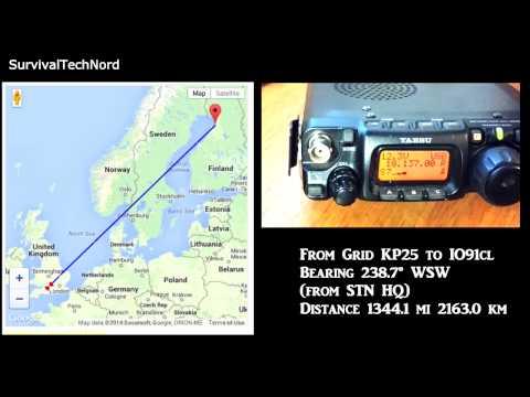 5 watt Range Test Finland - United Kingdom 2163KM | Yaesu FT-817ND