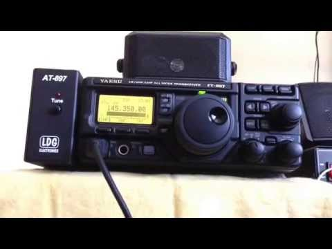 This is my Yaesu HF/VHF/UHF/All Mode Transceiver FT-897D.  This is 2m Ham