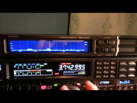 Yaesu FTDX-5000MP listening on 40m & 80m SSB at the shack of M0SAZ