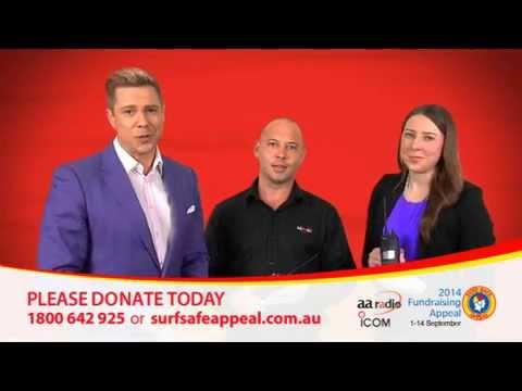 AA Radio & ICOM Australia donate to Surf Safe Appeal 2014