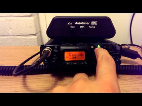 Yaesu FT-817ND listening to HF SSB Field Day - 80m