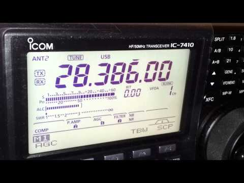 G8CLY QSO with VK5MRD 10m 18/11/2012