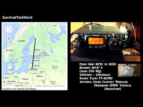 5 Watt Range Test | 639miles - 1029km | Yaesu FT-817 Bugout bag radio